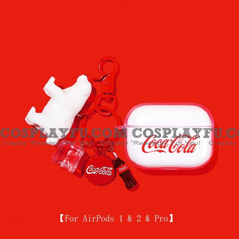 Cute Coca-Cola with Polar Bear | Airpod Case | Silicone Case for Apple AirPods 1, 2, Pro (81413)