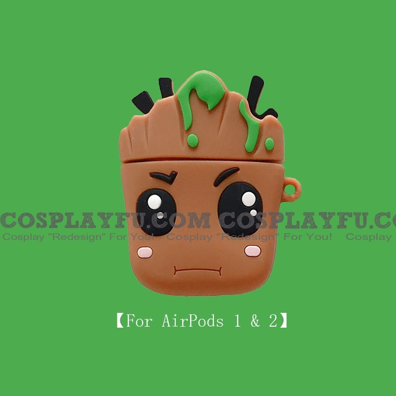 Lovely Baby Groot | Airpod Case | Silicone Case for Apple AirPods 1, 2, Pro 코스프레 (81501)