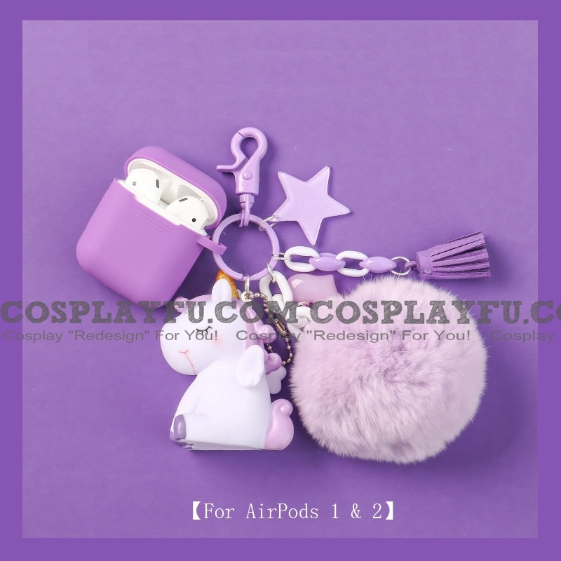 Lovely 자 Unicorn | Airpod Case | Silicone Case for Apple AirPods 1, 2, Pro 코스프레 (81539)