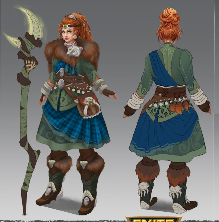 Artio Cosplay Costume from Smite