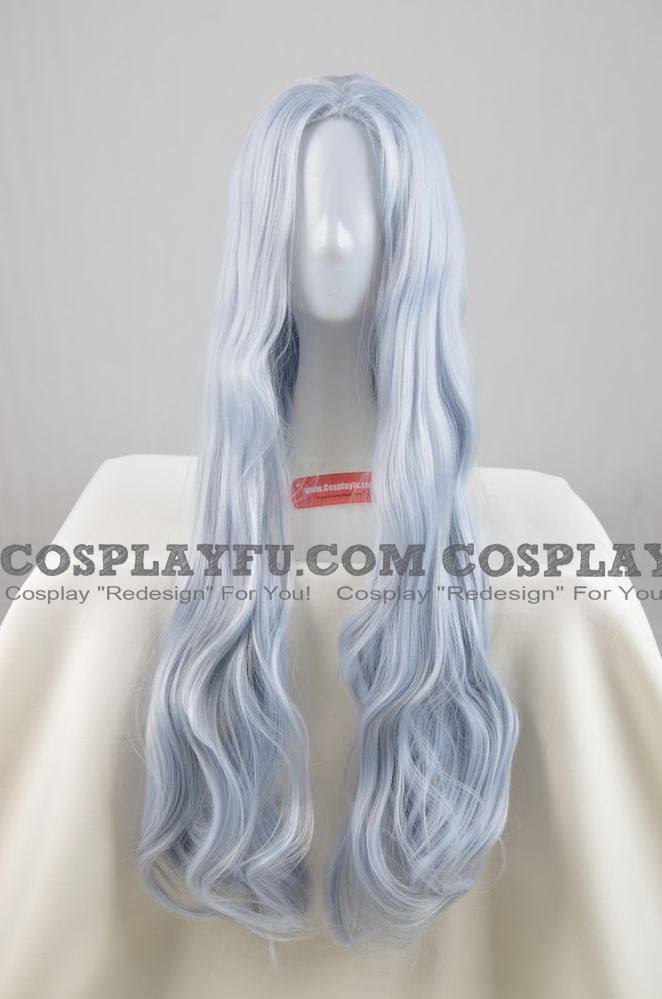 Eri Wig (2nd, Long Wavy Silver Blue) from My Hero Academia