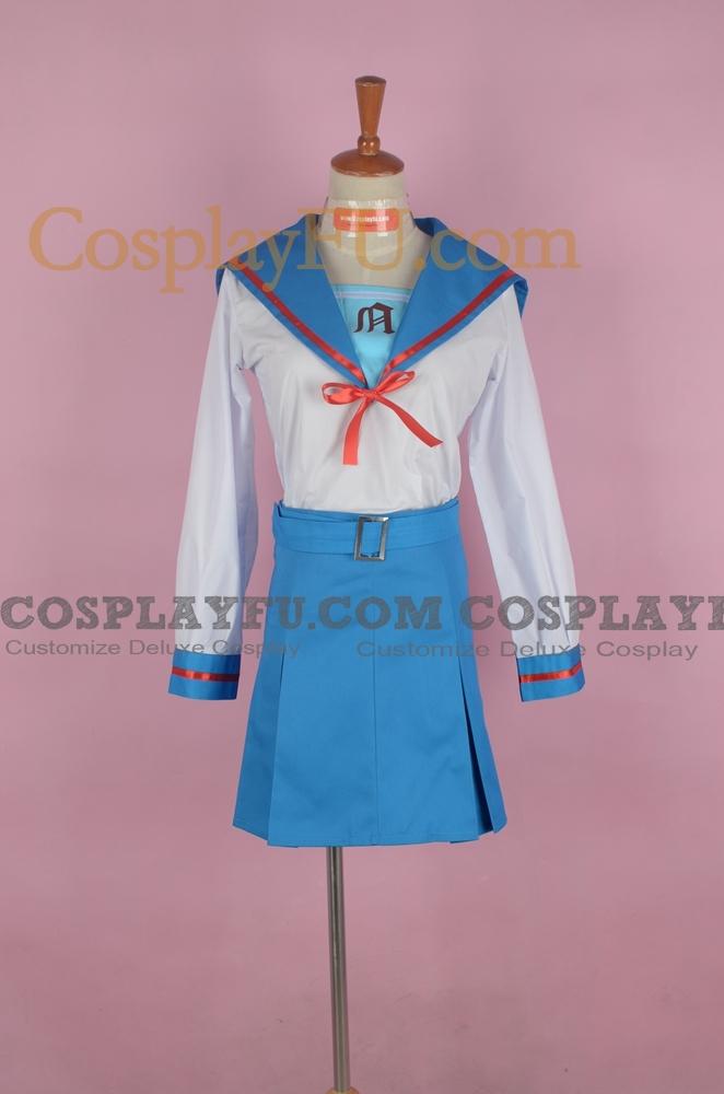 Haruhi Cosplay Costume (School Uniform,Stock) from The Melancholy of Haruhi Suzumiya