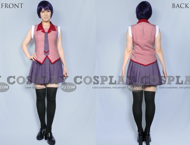 Hitagi Cosplay Costume from Hanamonogatari