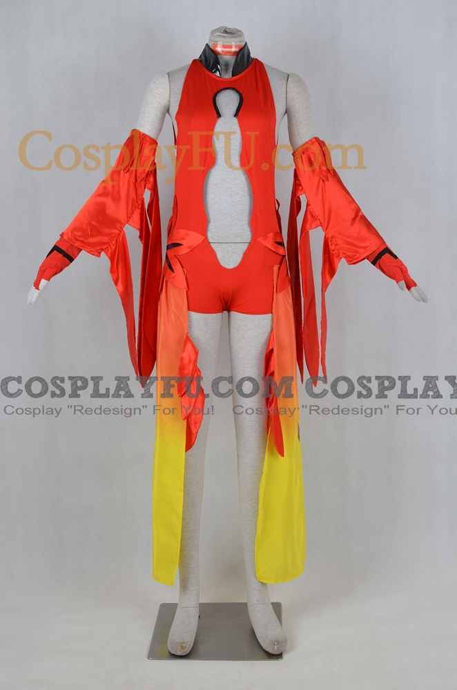 Inori Cosplay Costume (Red) from Guilty Crown