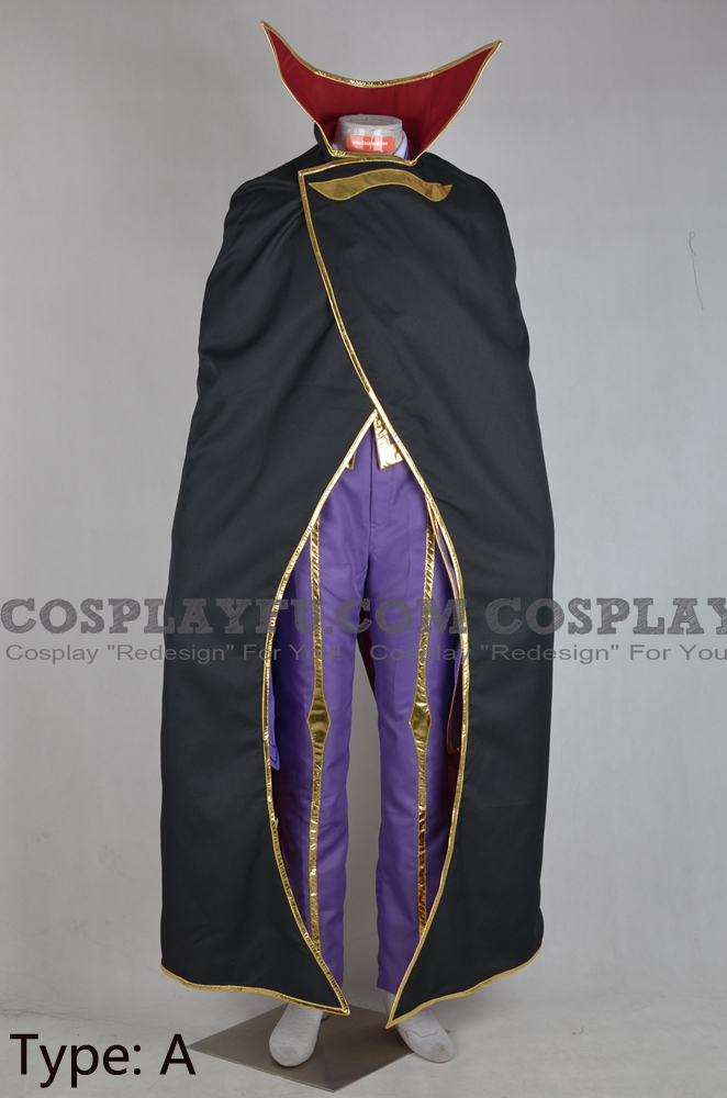 Code Geass Lelouch Lamperouge Costume (with Cloak)