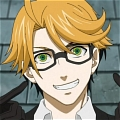 Personnages de Black Butler Ronald Knox Perruque