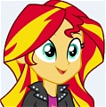 My Little Pony Sunset Shimmer Perruque