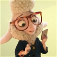 Zootopia Assistente Bellwether Peruca