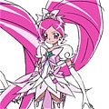 Super Cure Blossom Cosplay Costume from HeartCatch PreCure