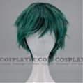 Short Spike Mixed Green and Black Wig (1653)