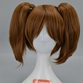 Short Twin Pony Tails Brown Wig (2187)