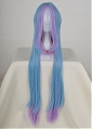 Long Straight Mixed Blue and Purple Wig (2459)