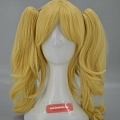 Medium Straight Twin Pony Tails Blonde Wig (2466)