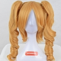 Long Curly Twin Pony Tails Blonde Wig (2894)