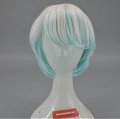 35 cm Short Mixed White and Blue Wig (5628)