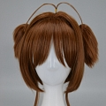 Short Twin Pony Tails Brown Wig (3509)