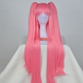 Long Pink Twin Tail Wig (3543)