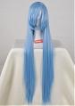 100 cm Lungo Diritto Blu Parrucca (4553)