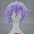 Short Mixed White and Purple Wig (3764)