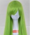 Long Straight Green Wig (6784)