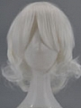 Medio ondulado Blanco Peluca (5844)
