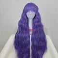 Longue ondulés Violet Perruque (7317)