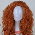 Long Curly Orange Wig (7814)