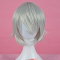 Short Straight White Wig (6975)