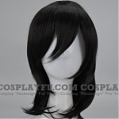 Medium Straight Black Wig (7038)