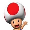 Super Mario Bros. Toad Cosplay (Red and White)
