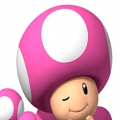 Toadette Hat (Pink and White) from Super Mario Bros.