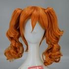 Arancione Parrucca (Media, Curly, Clip On)