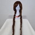 130 cm Longue marron Twin Braids Perruque