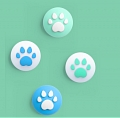 Nintendo Switch Paw Thumb Grips Caps Cover (Version D, For Switch Switch-Lite Joycon, Pack of 4)