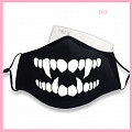 Skull Face Mask for Adults (Cotton, Washable, Reusable) with Nose Wire (4394)