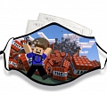 Minecraft Face Mask for Adults (Cotton, Washable, Reusable) with Pocket with Nose Wire