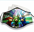 The Legend of Zelda Face Mask for Adults (Cotton, Washable, Reusable) with Pocket with Nose Wire