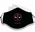 X-Men Deadpool Cosplay (Coton, Washable, Reusable, with filter pocket)