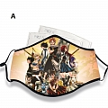 Fairy Tail Face Mask for Adults (Cotton, Washable, Reusable) with Pocket with Nose Wire
