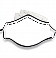 Plain Blanc Face Masque for Adults (custom letters) Cosplay (Coton, Washable, Reusable)