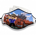 Roblox Face Mask for Adults (Cotton, Washable, Reusable) with Pocket with Nose Wire (2nd)