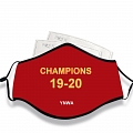 Champions YNWA Fan Art Face Mask for Adults (Cotton, Washable, Reusable) with Pocket with Nose Wire