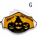 Halloween Face Mask for Adults (Cotton, Washable, Reusable) with Pocket with Nose Wire