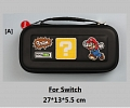 Black Super Mario Nintendo Switch and Switch Lite Carrying Case 8~10 Game Cards Holding