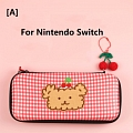 Cherry and Bear Nintendo Switch and Switch Lite Carrying Case - 8 Game Cards Holding