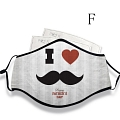 Father's Day Face Mask for Adults (Cotton, Washable, Reusable) with Pocket with Nose Wire