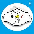 Snoopy Face Mask for Adults (Cotton, Washable, Reusable) with Pocket with Nose Wire