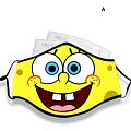 Sponge Bob and Simpsons Face Mask for Adults (Cotton, Washable, Reusable) with Pocket with Nose Wire
