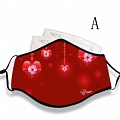 Microsoft Valentines Day Face Mask for Adults (Cotton, Washable, Reusable) with Pocket with Nose Wire