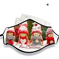 Christmas (2) Face Mask for Adults (Cotton, Washable, Reusable) with Pocket with Nose Wire